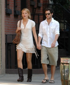 model Blake lively and penn badgley Photos 2011