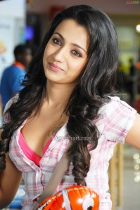 Actress Trisha Sexy hot cleavage show pictures 2011